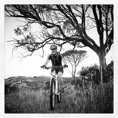 A little black and white photo of a Fischhoek ride.