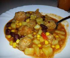 Rezept Variation von Westerntopf mit Hackbällchen von Winnipooh - Rezept der Kategorie Hauptgerichte mit Fleisch