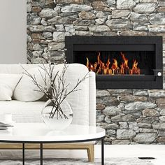 Create your own stone fireplace. $39.99 Stone Wall Peel and Stick Wallpaper from NextWall. #removablewallpaper #stonewallpaper #rockwallpaper #homedecor #officedecor #buyamericanmade #temporarywallpaper #stickonwallpaper #organicmoderndesign Stick On Wallpaper, Stone Wallpaper, Temporary Wallpaper, Do It Yourself Crafts, Organic Modern, Office Decor, Best Sellers, Create, Design