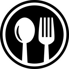 Logo Design Discover Restaurant cutlery circular symbol of a spoon and a fork in a circle free vector icons designe in 2020 Food icons Food icon png Vector icon design