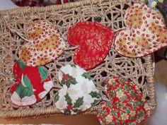 Handmade Christmas 3 Heart Decoration scented with Cinnamon & Cloves