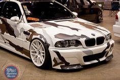 Camouflage car wrap