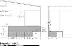 kitchen nook measurements - Google Search