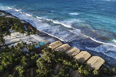 Habitas Tulum boutique hotel offers beachfront and hidden jungle rooms Riviera Maya Mexico, Tulum Mexico, Maldives, Resorts, Jungle Room, Global Home, Mexico Travel, Best Part Of Me, Natural Materials