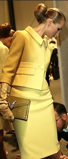 Valentino women's suit. some women wish the jacket were longer. What are your thoughts?