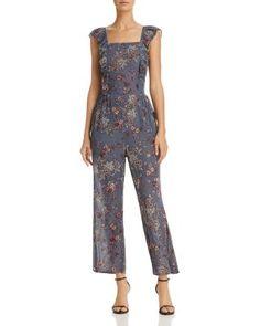 AQUA Ruffled Floral Paisley Jumpsuit - 100% Exclusive  | Bloomingdale's