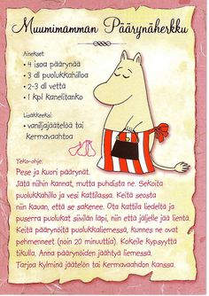 Finnish Recipes, Tove Jansson, Baking With Kids, Old Recipes, Orange Crush, Recipe Cards, Love Food, Yummy Food, Collection