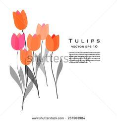 Tulips vector illustration - stock vector
