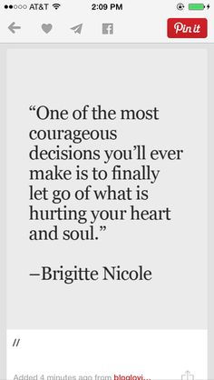 Let go of what hurts your heart
