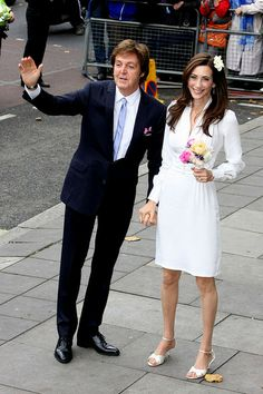 The wedding of Sir Paul McCartney and Nancy Shevell which was held at Marylebone registry office, after the wedding at the same venue where he married his first wife Linda 42 years ago and on what would have been John Lennon's birthday. Celebrity Wedding Photos, Celebrity Weddings, Wedding Movies, Sir Paul, Ringo Starr, Celebs, Celebrities, Lady And Gentlemen, Paul Mccartney