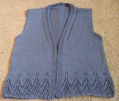 Ravelry: Project Gallery for Galiano Vest pattern by Megan Goodacre