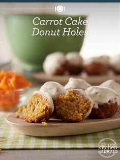 These carrot cake donut holes are the perfect breakfast treat!