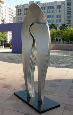 James Hill Sculpture, Big Bones, Stainless steel, 8.5'x4.5'x2' Pershing Square Downtown Los Angeles