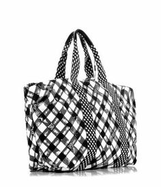 34f132cd41f Chanel49903PlaidFabricToteBagWhite. Chanel ChanelBag · Chanel Bag Outlet  Online Shop