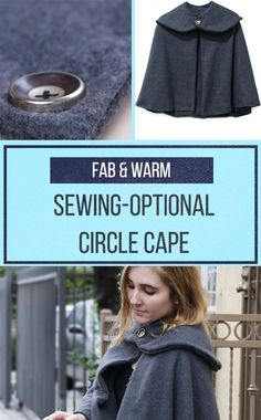 Make this easy circle cape for blustery winter days—sewing optional!