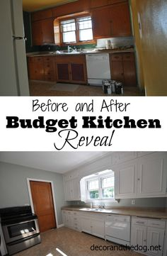 Before + After Budget Kitchen Reveal! Check out what inexpensive upgrades were made to improve this old kitchen!