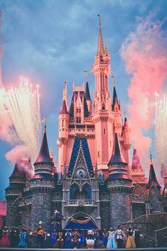 Beautiful view of Cinderella Castle, Magic Kingdom, Walt Disney World, Orlando, FL Disney Parks, Disney Pixar, Disney Amor, Orlando Disney, Disneyland Orlando, Disney Characters, Disney World Fotos, Disney World Pictures, Disney Magic