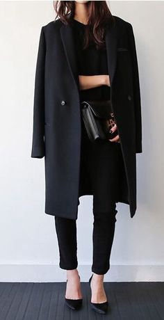 Black on black on black. This is my kind of outfit!