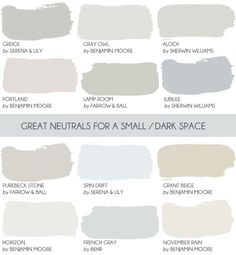 Before you paint a small room white read this article where Emily Henderson shares why a neutral c&; Before you paint a small room white read this article where Emily Henderson shares why a neutral c&; New Swedish Design, White Rooms, Dark Rooms, Farrow Ball, Farrow And Ball Paint, My New Room, House Painting, Painting Walls, Diy Painting