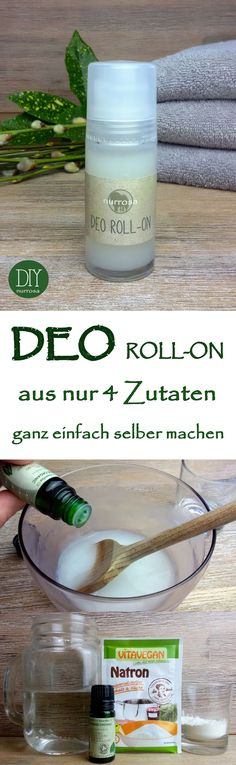 DEO ROLL-ON ganz einfach selber machen, ohne Aluminium und Alkohol Die Anleitung. Simply make DEO ROLL-ON yourself, without aluminum and alcohol. I have already introduced you to the instructions fo Diy Deodorant, Deodorant Recipes, Natural Deodorant, Shampooing Diy, Make Up Tricks, How To Make, Perfume Vintage, Belleza Diy, Diy Beauté