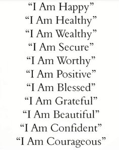 happy healthy worthy positive blessed grateful beautiful courageous confident graceful loved alive well today go affirmations friday Quotes Thoughts, Life Quotes Love, Inspiring Quotes About Life, Cute Quotes, Great Quotes, Quotes To Live By, Daily Thoughts, Short Quotes, Change Quotes