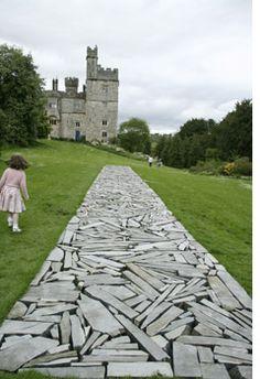 """Richard Long"" is at Lismore Castle, County Waterford, Ireland, 2014 Landscape Elements, Landscape Architecture, Landscape Design, Richard Long, Stone Walkway, Stone Path, Path Design, Garden Design, Crazy Paving"