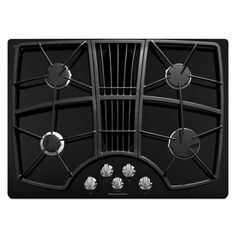 KitchenAid Architect II 4-Burner Downdraft Gas Cooktop (Black) * You can find out more details at the link of the image.