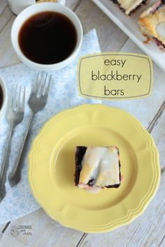 Easy Blackberry Bars