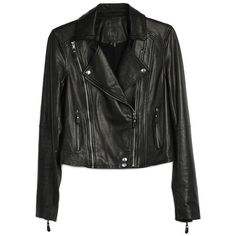 PAIGE Roanna Jacket  Black Leather (€200) ❤ liked on Polyvore featuring outerwear, jackets, leather jackets, coats & jackets, coats, leather, black leather, embroidered leather jacket, genuine leather jackets and floral print jackets