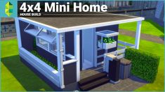 The Sims 4 House Building - 4x4 Mini Home - YouTube
