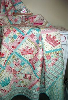 Dreaming Princess Crown Quilt by nbmerrill on Etsy