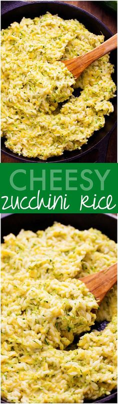 Cheesy Zucchini Rice - Out of this world cheesy and good! Perfect way for hiding that zucchini inside!