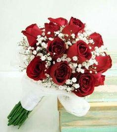 Prom Bouquet, Rose Bridal Bouquet, Red Bouquet Wedding, Red Rose Bouquet, Bride Bouquets, Floral Wedding, Prom Flowers, Bridal Flowers, Red Wedding Flowers