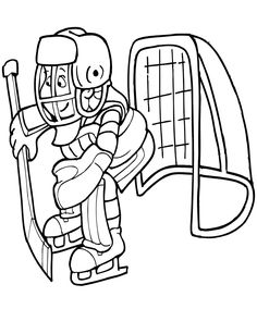 Coloring Page of Hockey Goalie You Can Print Out This Hockey
