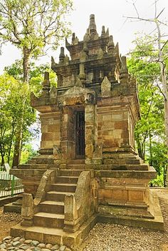 Candi Cangkuang, a small 8th century Hindu temple at Kampung Pulo, near Kecamatan Leles, Garut Regency, West Java, Indonesia, Southeast Asia, Asia