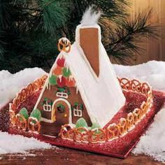 Gingerbread Chalet... love the cotton candy for smoke out of the chimney