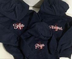 Monogrammed bridesmaid hoodies, gifts for bridesmaid embroidered personalized Monogram Hoodie, Monogram Initials, Teacher Tote Bags, Teacher Appreciation Gifts, Full Zip Hoodie, Hoodies, Sweatshirts, Bridesmaid Gifts, Personalized Gifts