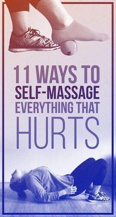 Ejercicios y auto masajes para combatir el dolor cuando no tienes a nadie que te ayude.