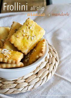 Il sapore del sale: Frollini all'olio d'oliva con arance e mandorle
