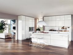 The Secret to Custom Kitchen Rennovation Done in Melbourne - fiihaamay White Contemporary Kitchen, Modern Kitchen Design, Kitchen Designs, Kitchen Ideas, Scavolini Kitchens, White Kitchen Appliances, Kitchen Cabinetry, Kitchen White, White Kitchens