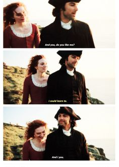 Demelza and Ross agree that they could learn to like each other :)
