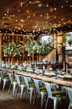 modern wedding tables