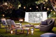 I dream of having a yard where I can host outdoor movie nights - Take Movie Night Outdoors - Garden Design Ideas - Garden Ideas (houseandgarden.co.uk)