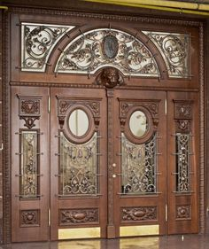 Ideas Main Door Design Entrance Beautiful For 2019 Grill Door Design, Door Gate Design, Door Design Interior, Front Door Design, Interior Doors, Best Front Doors, Double Front Doors, Glass Front Door, Wooden Main Door Design