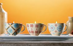Transform Stoneware Teacups Into Candles