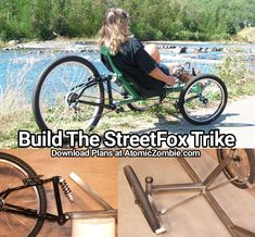 Easy to build Trike no machined parts required. Trike Bicycle, Bicycle Decor, Recumbent Bicycle, Bicycle Seats, Audi Tt, Ford Gt, Scooters, Electric Trike, Electric Boat