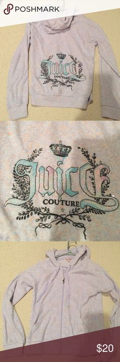 Authentic Juicy Couture jacket Authentic Juicy Couture zip-up jacket with rhinestones and glitter on the back. BRAND NEW but without tags. Juicy Couture Jackets & Coats