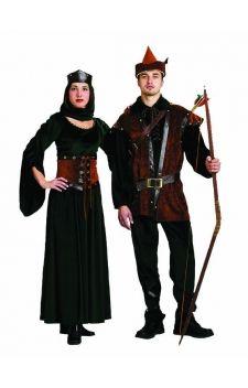"""Choisissez les costumes de Robin des bois et Lady Marianne pour vos soirées déguisées sur les thèmes """"héros de notre enfance"""", """"médiéval"""", ..."""