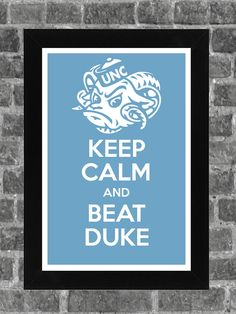 Keep Calm North Carolina Tarheels NCAA Print Art 11x17. $14.99, via Etsy.