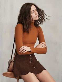 Reformation Rye Top in Cognac Looks Style, Style Me, Fall Outfits, Cute Outfits, 70s Fashion, Womens Fashion, Cooler Style, Inspiration Mode, Ootd